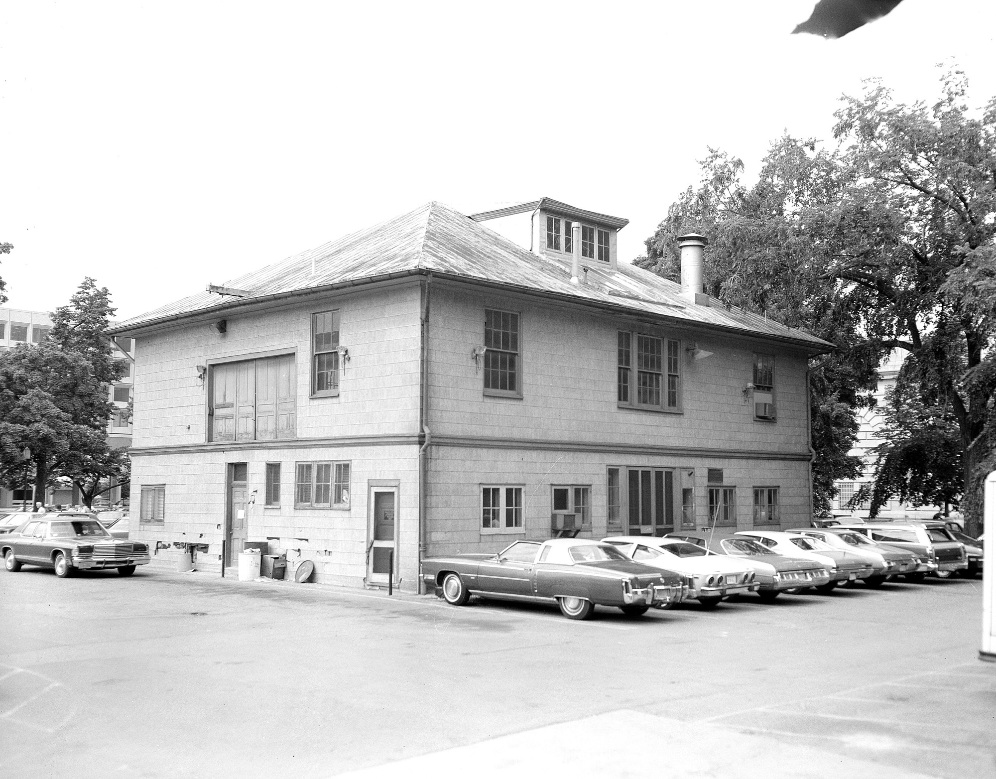 Exterior of the South Shed, 1975, by Unknown, 1975, Smithsonian Archives - History Div, 75-6938.