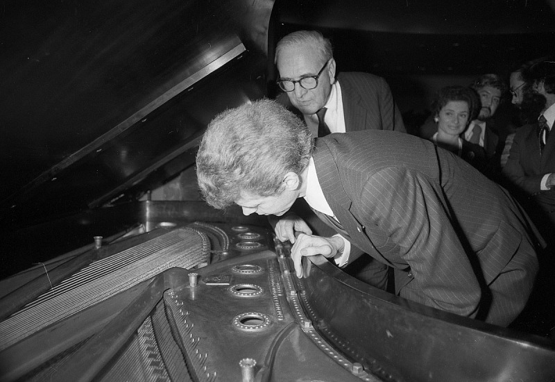 Image for Henry Steinway & Van Cliburn Inspecting Piano