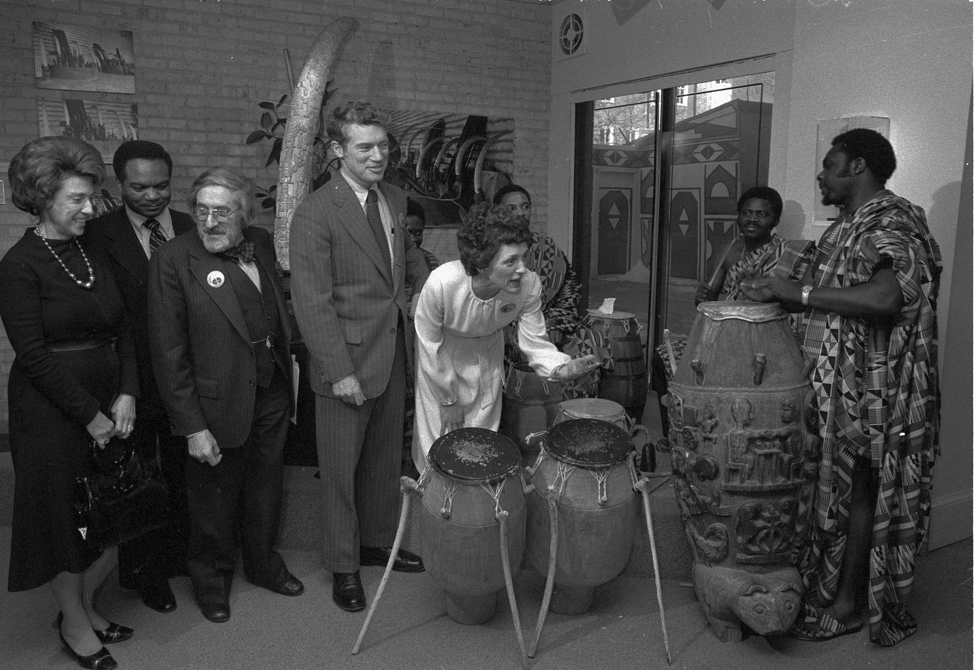 Warren Robbins Hosts Legislators at the Museum, 1978
