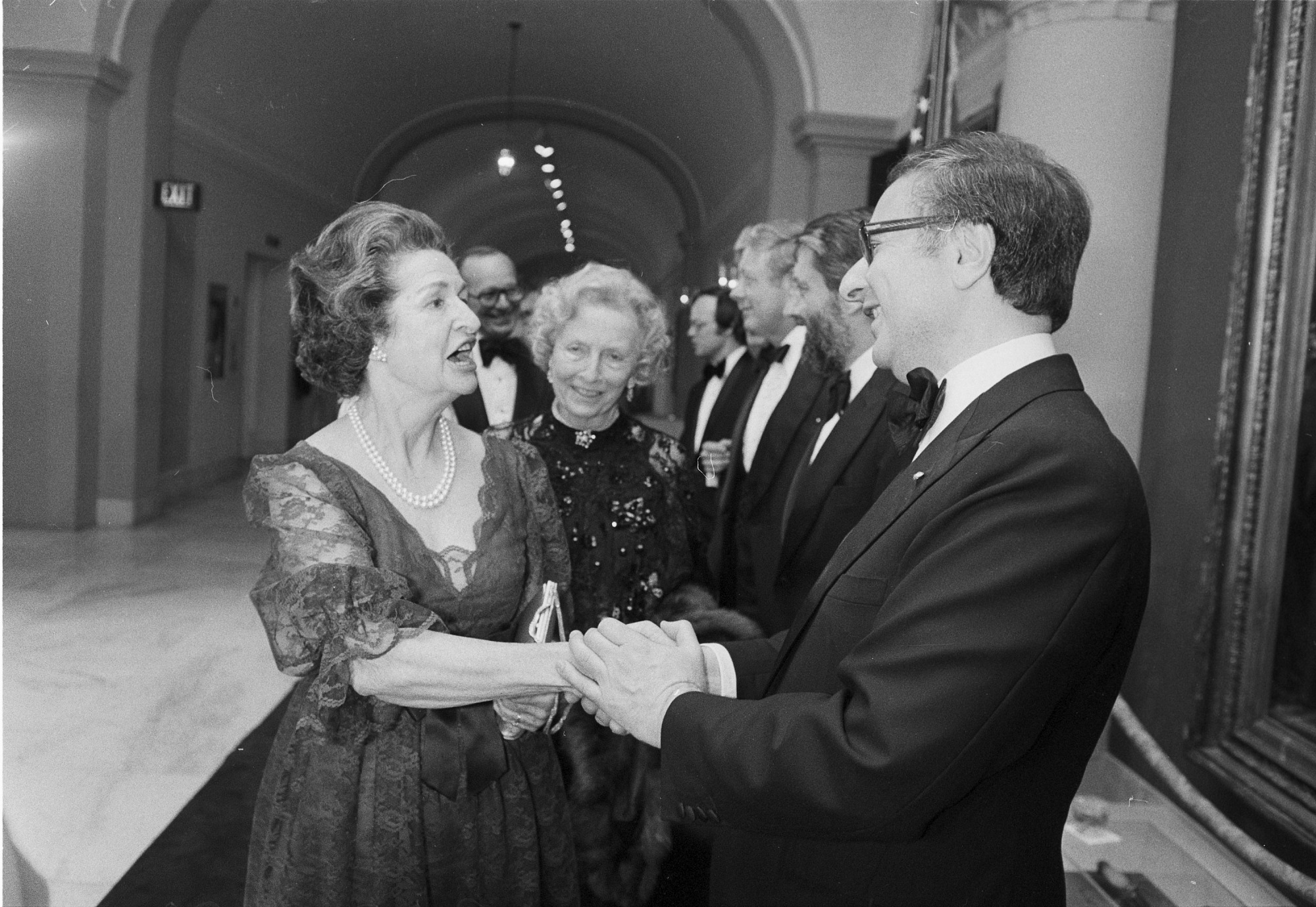 Marvin Sadik Greeting Lady Bird Johnson