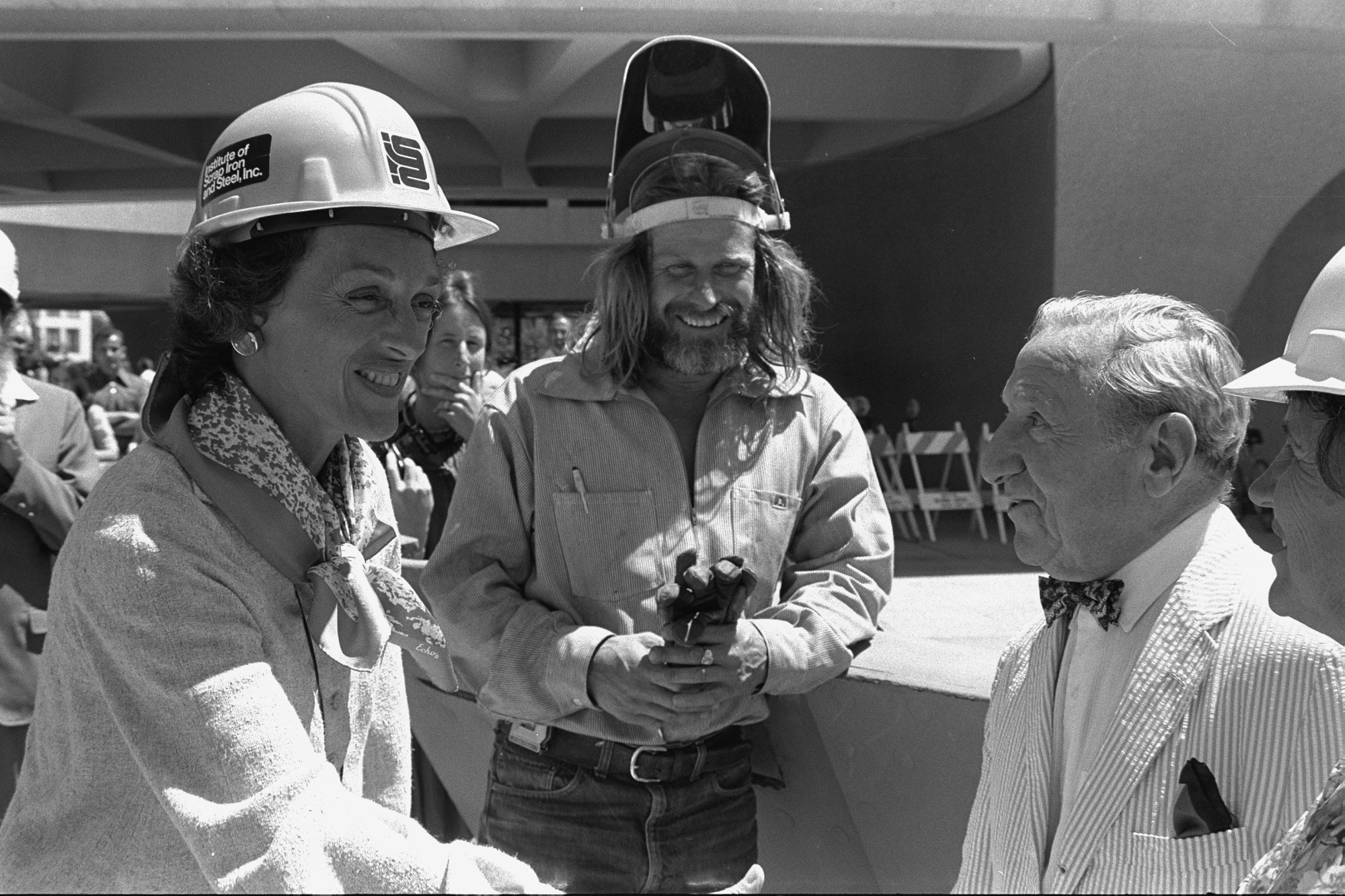 Joan Mondale Greeting Joseph Hirshhorn