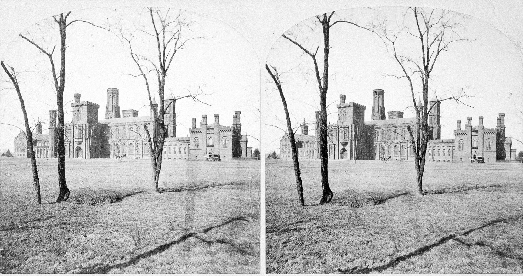 South Facade of SIB, by Unknown, pre 1884, Smithsonian Archives - History Div, 80-20128.