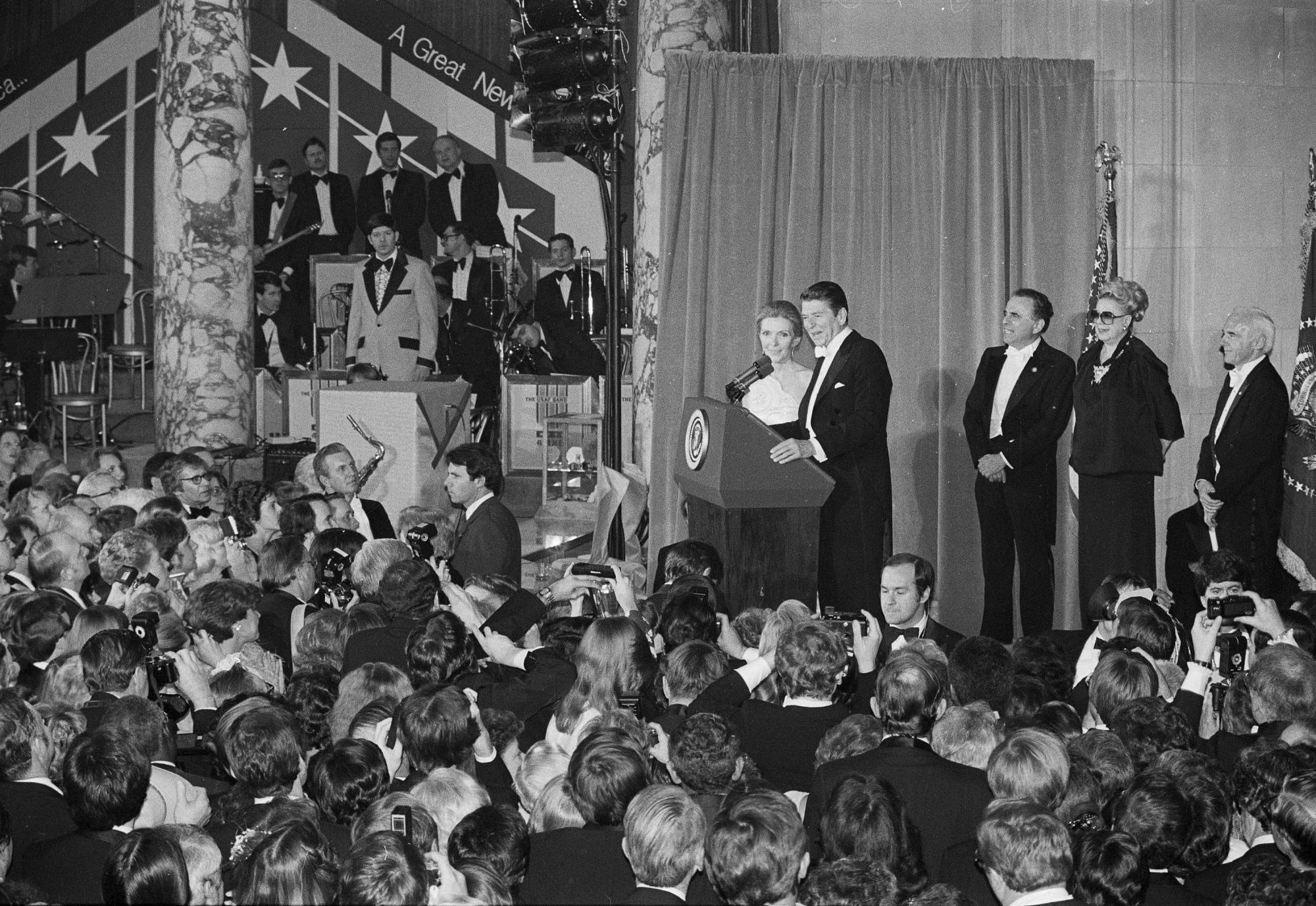 President and Mrs. Ronald Reagan, Inauguration Ball