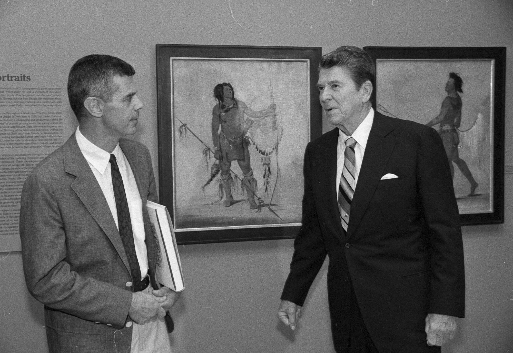 President Reagan and William Truettner