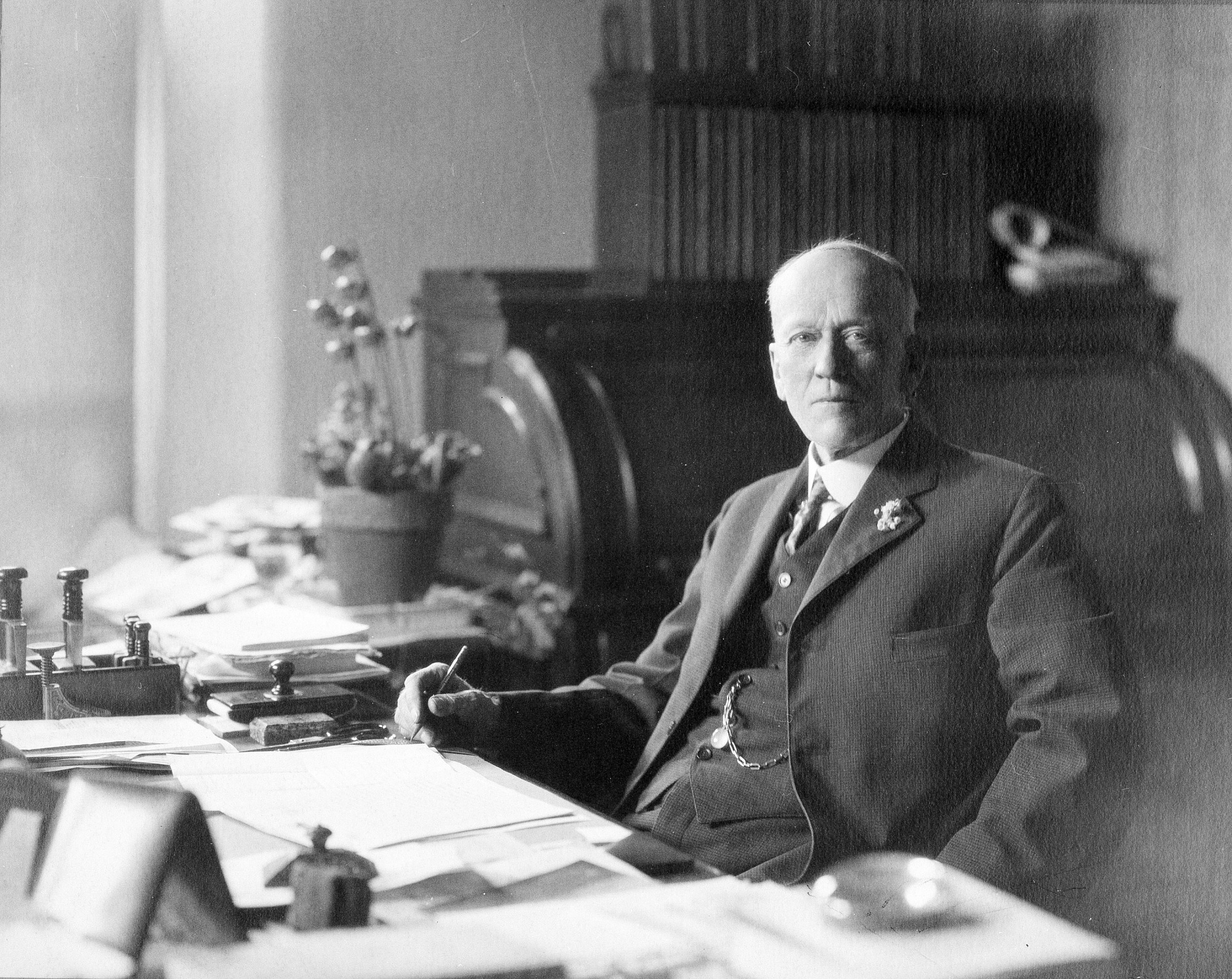 Charles Doolittle Walcott, 1922, by Unknown, 1922, Smithsonian Archives - History Div, 82-3139.
