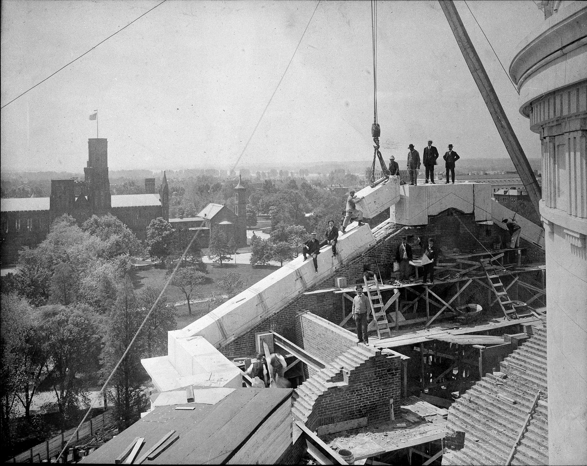 Construction of Natural History Building