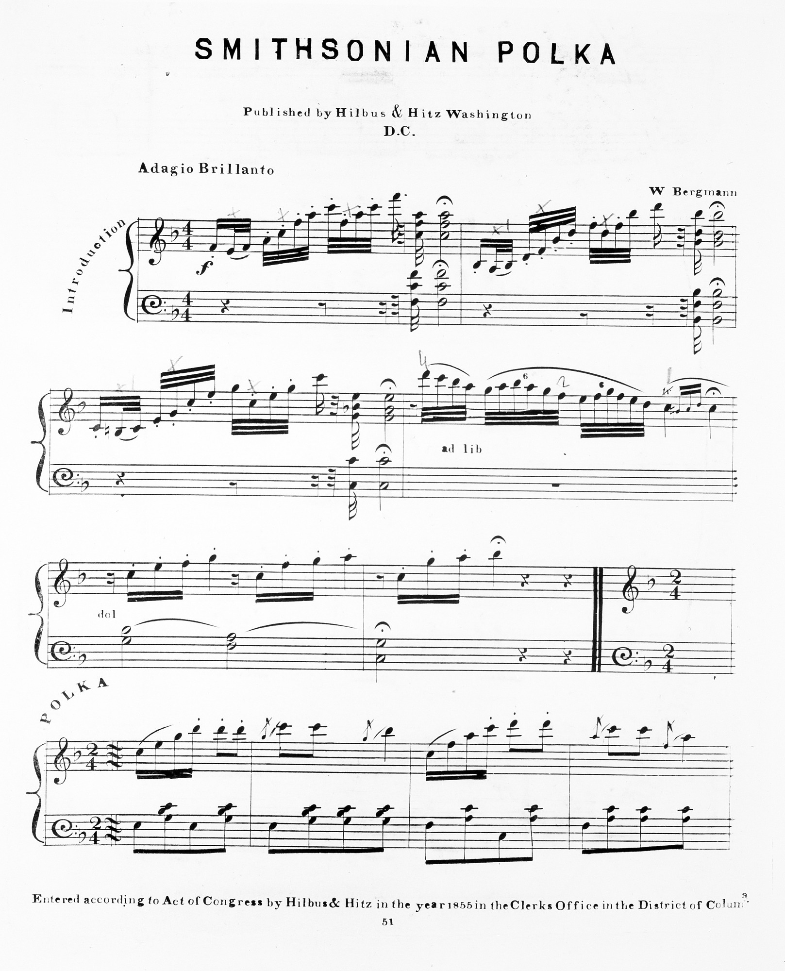 images for Music for Smithsonian Polka by W. Bergman