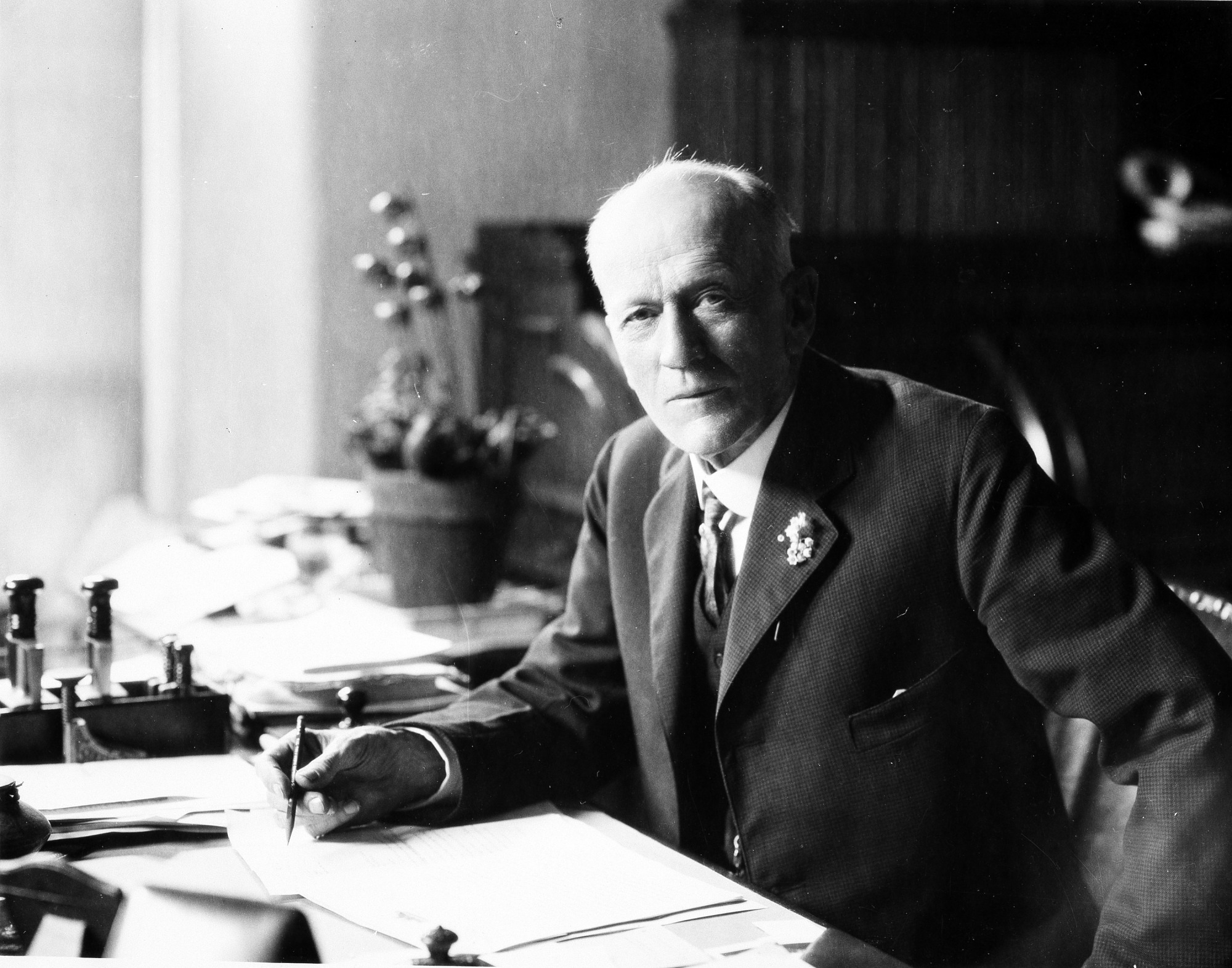 Secretary Charles D. Walcott, by Unknown, 1922, Smithsonian Archives - History Div, 83-14114.
