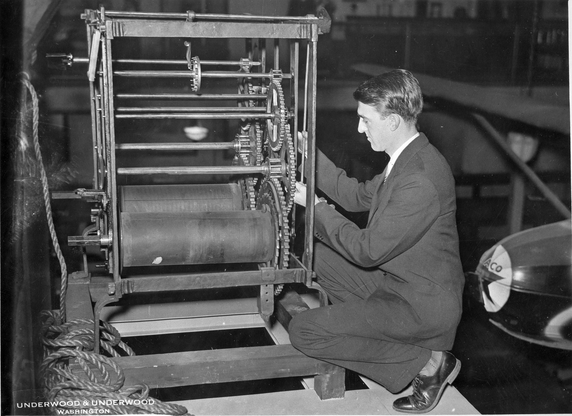 Frank A. Taylor Working on a Press