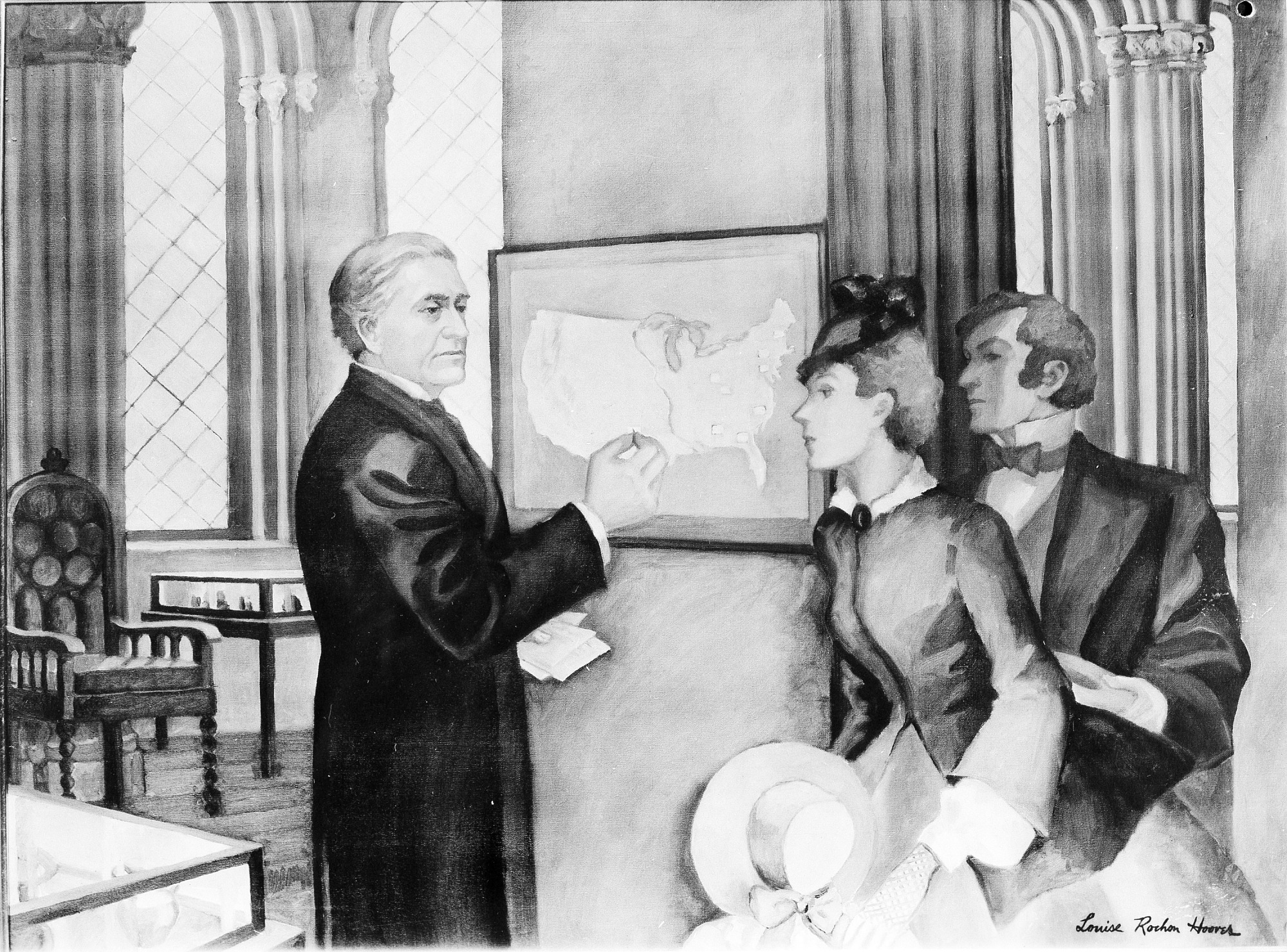 Daily Weather Map Displayed at Smithsonian, 1858, Smithsonian Archives - History Div.