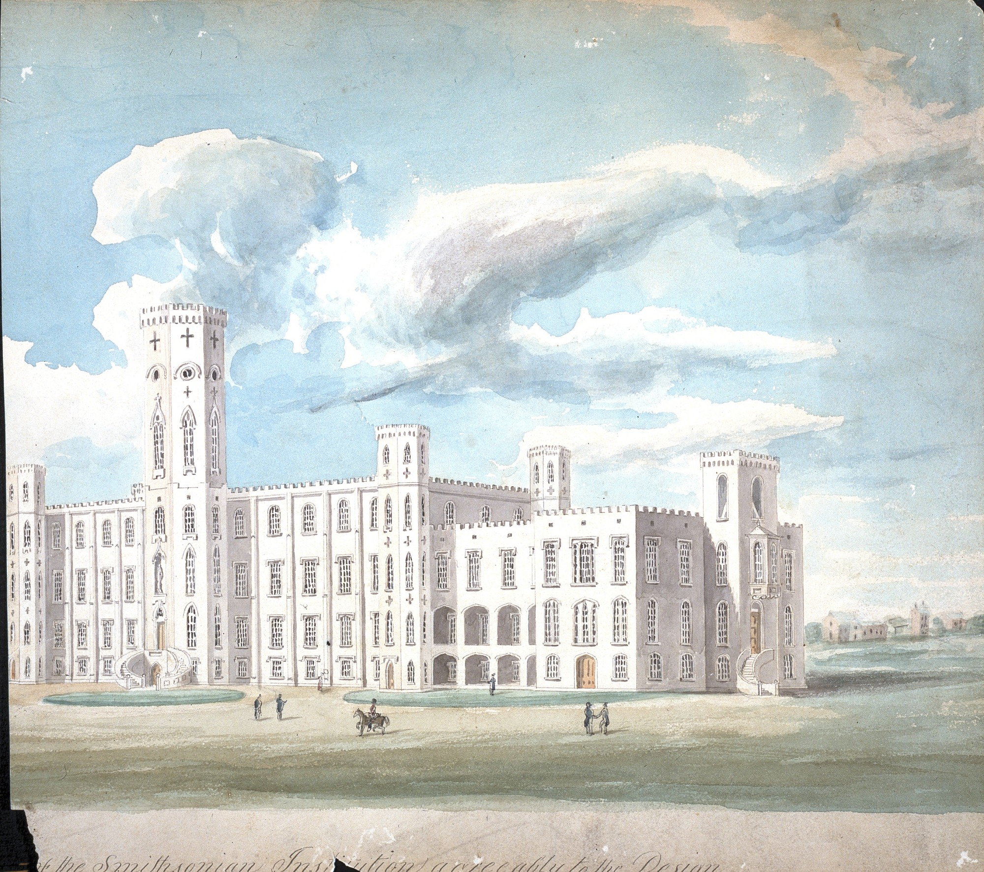 images for Robert Mills' Design for the Smithsonian Institution Building