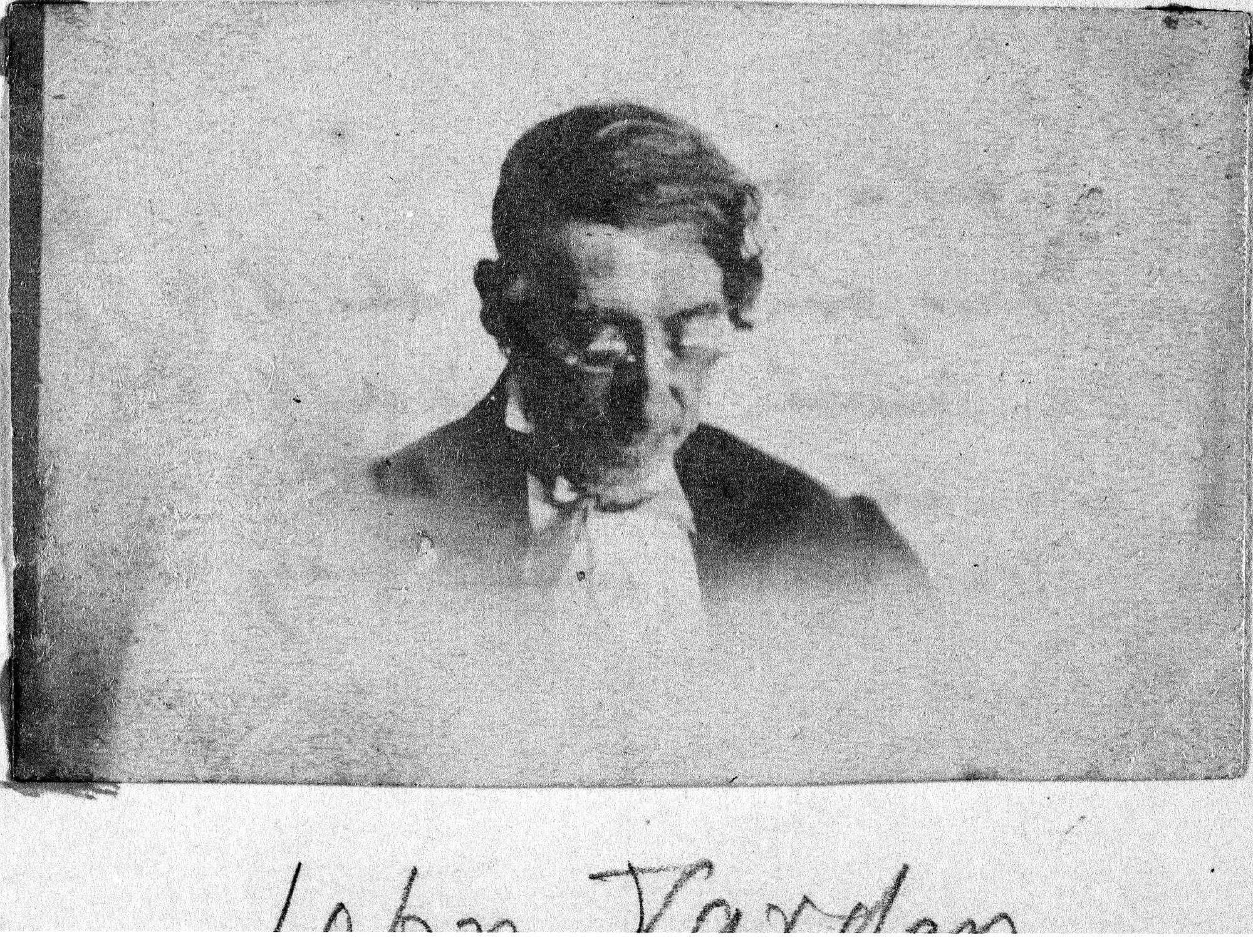 John Varden, by Unknown, Unknown, probably c. 1860, Smithsonian Archives - History Div, 85-8124.