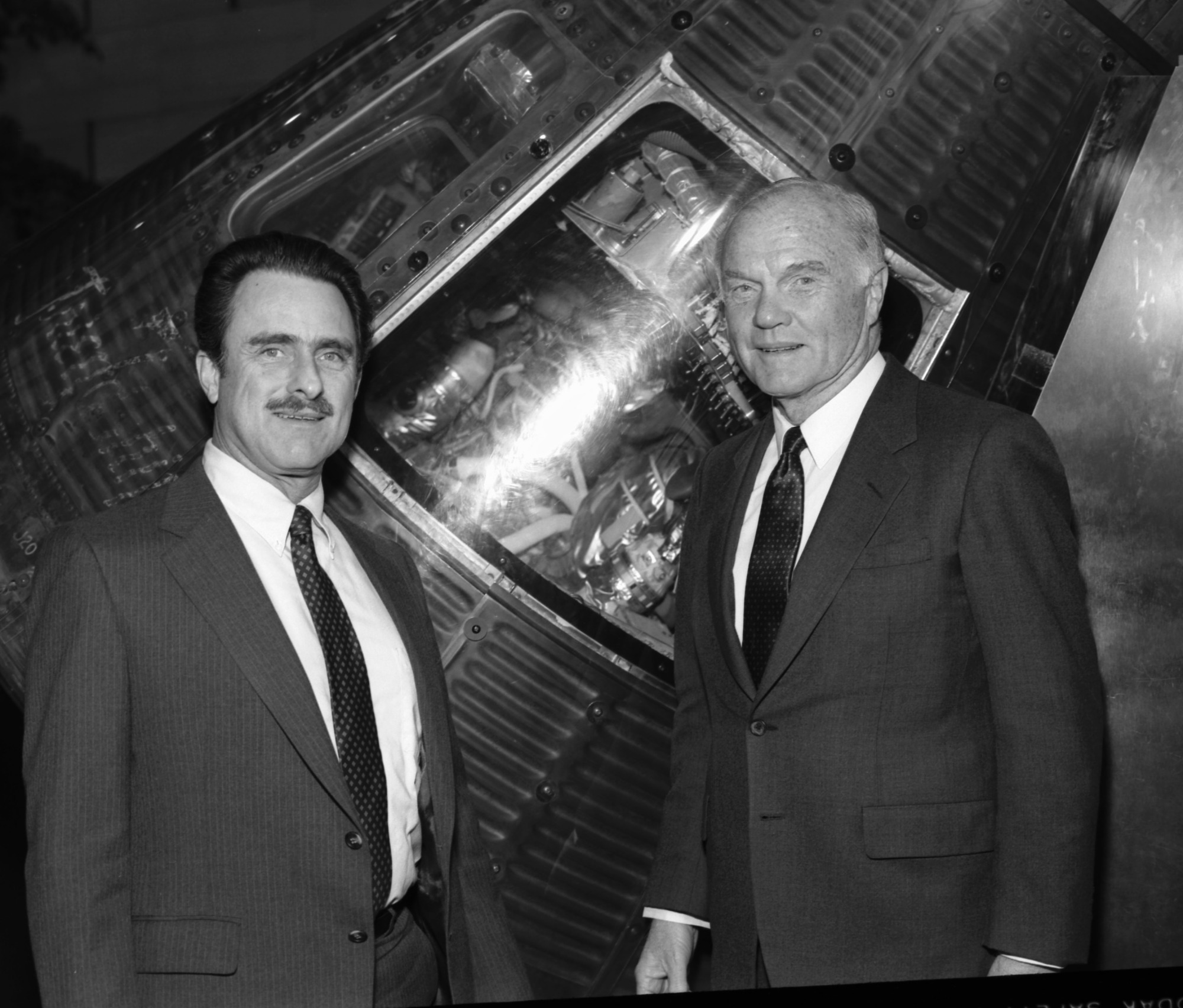 James Tyler and John Glenn at NASM