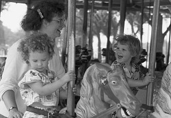 Visitors on the Carousel