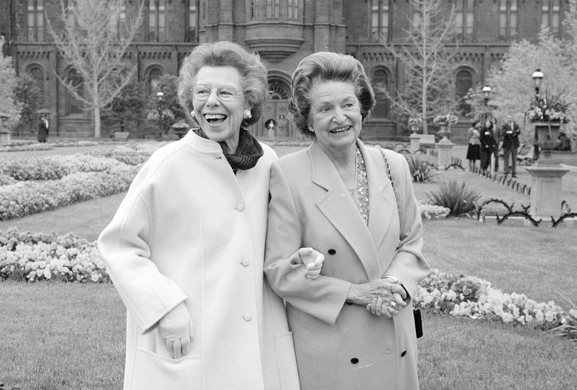 Enid A. Haupt and Lady Bird Johnson