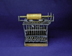 Sholes & Schwalbach Patent Model for Improvement in Type-Writing Machines
