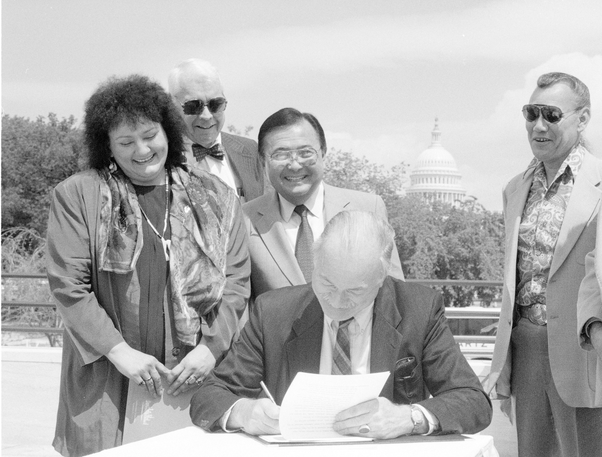 Secretary Adams at Signing Ceremony NMAI