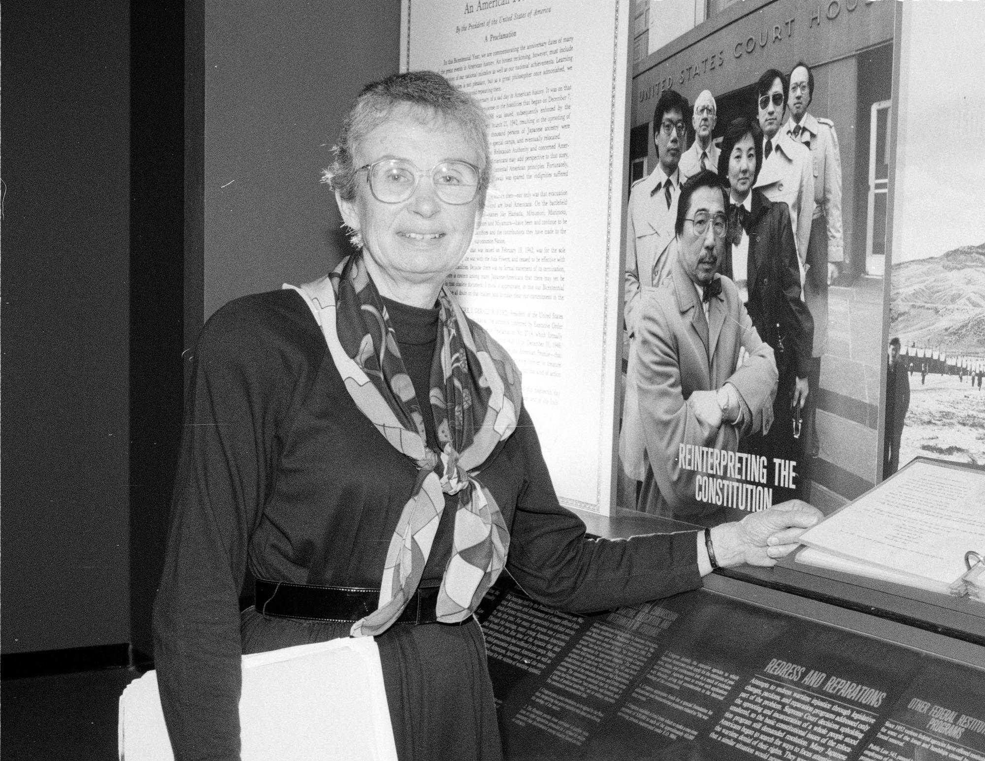Shirley Cherkasky, by Vargas, Rick, 1991, Smithsonian Archives - History Div, 91-17383-19.
