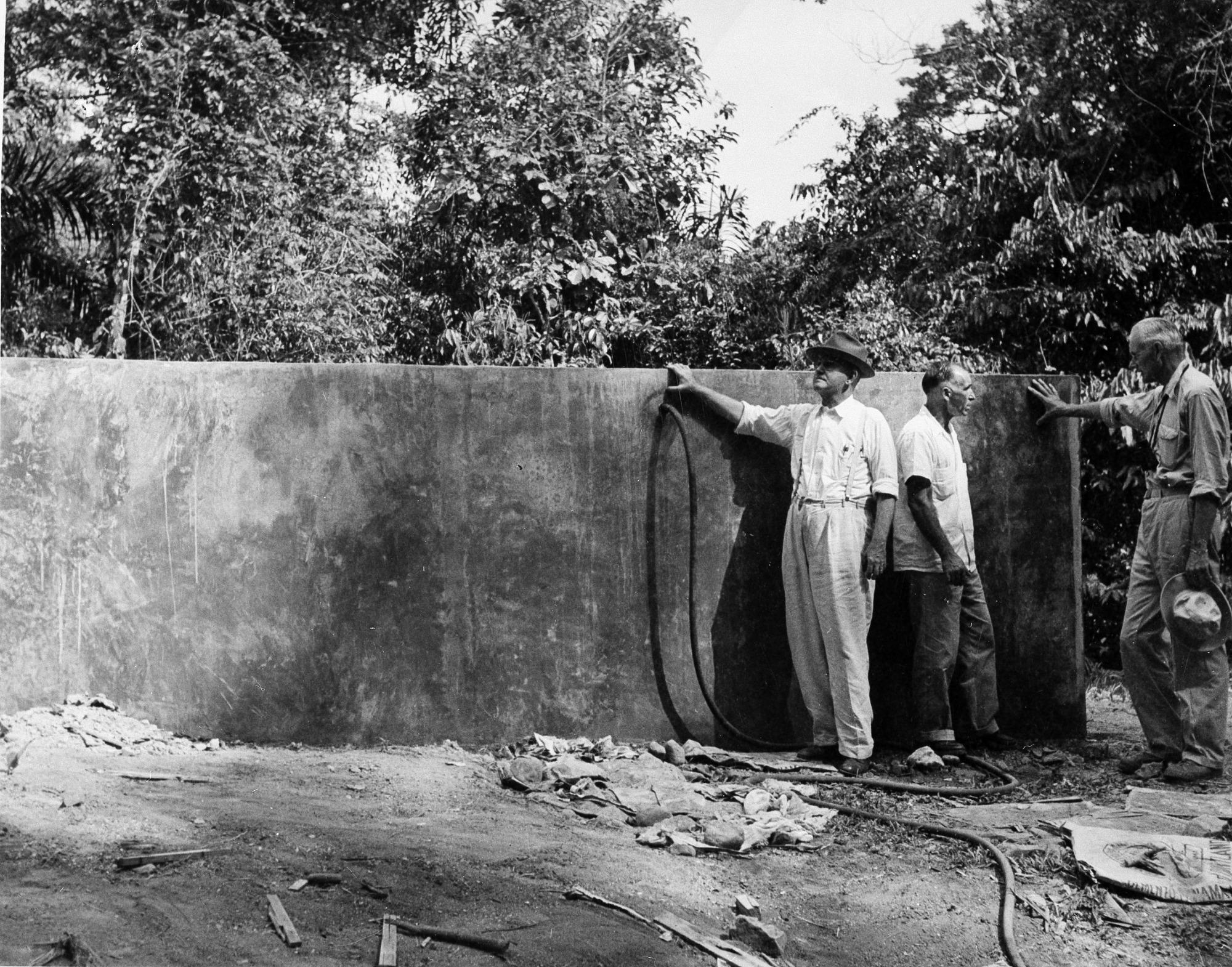 Building Water Tank on Barro Colorado