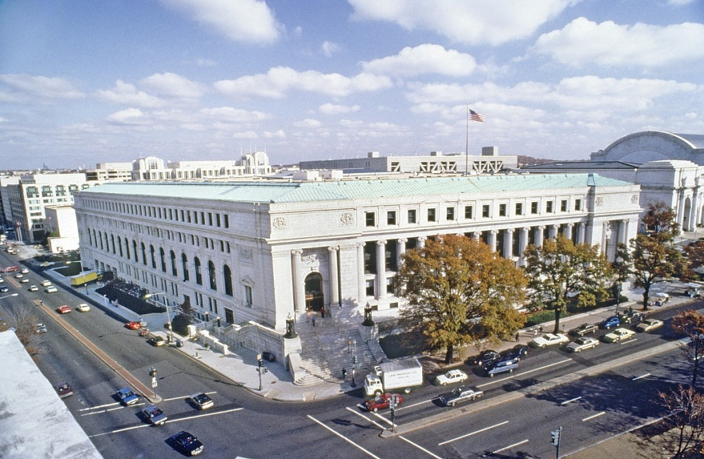 Exterior of the Washington City Post Office Building