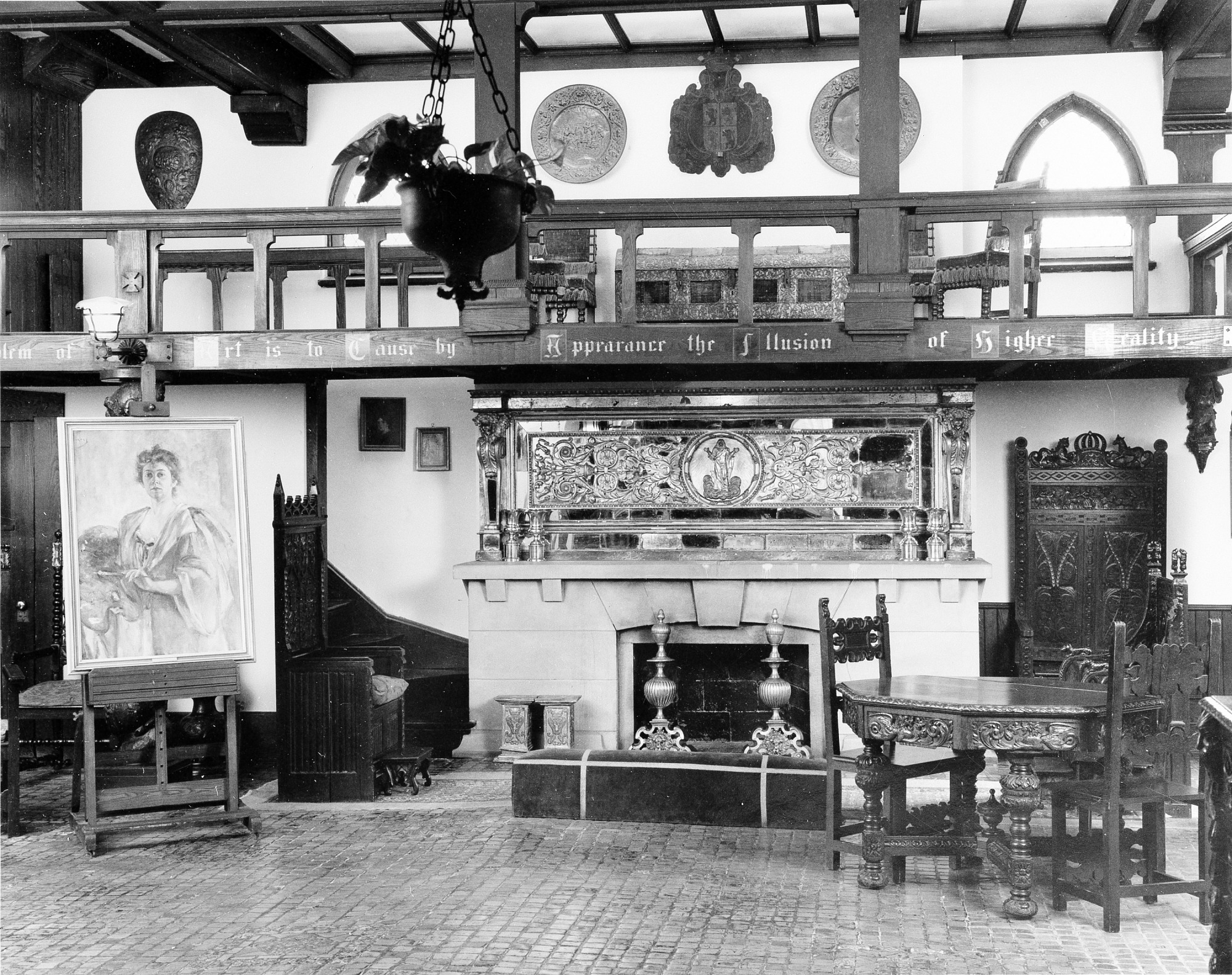 Barney Studio House, Interior, by Unknown, Smithsonian Archives - History Div, 92-3532.