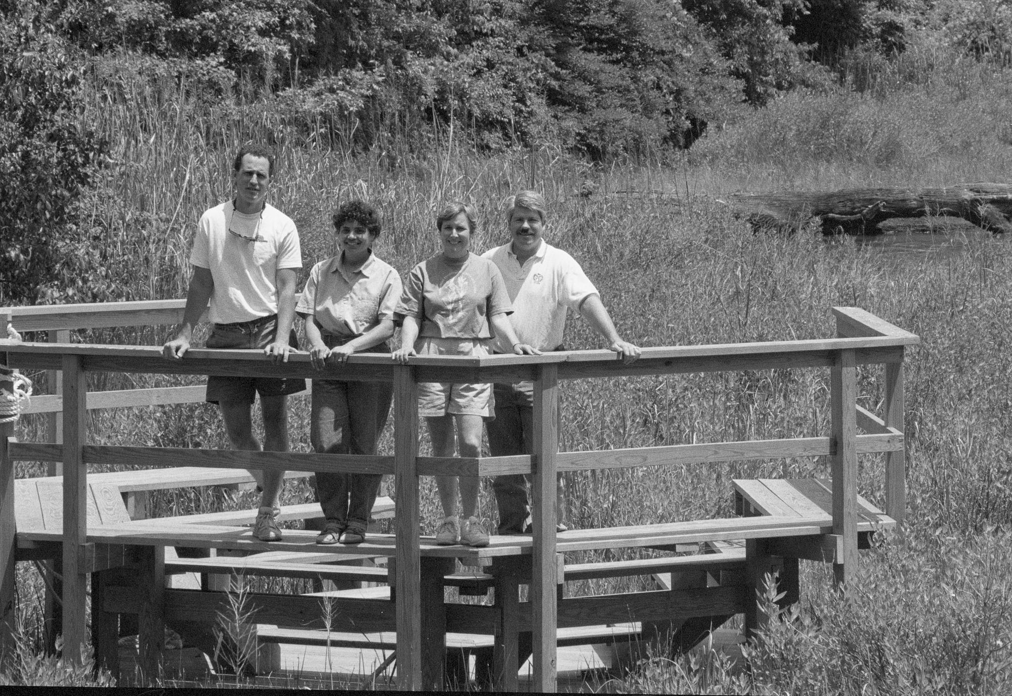 SERC Staffers at Amphitheater over Fox Creek Marsh