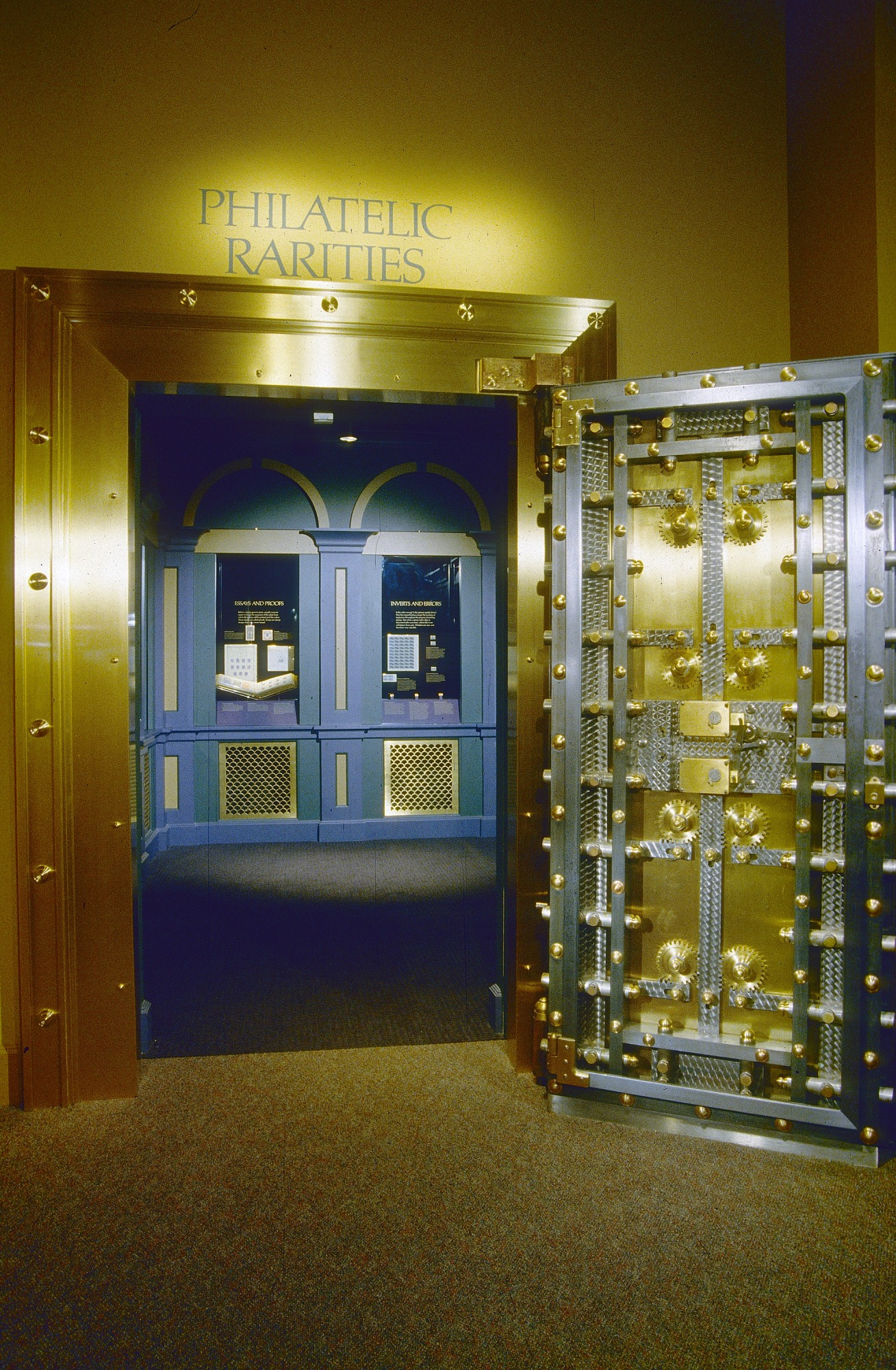Entrance to Philatelic Rarities Vault at National Postal Museum