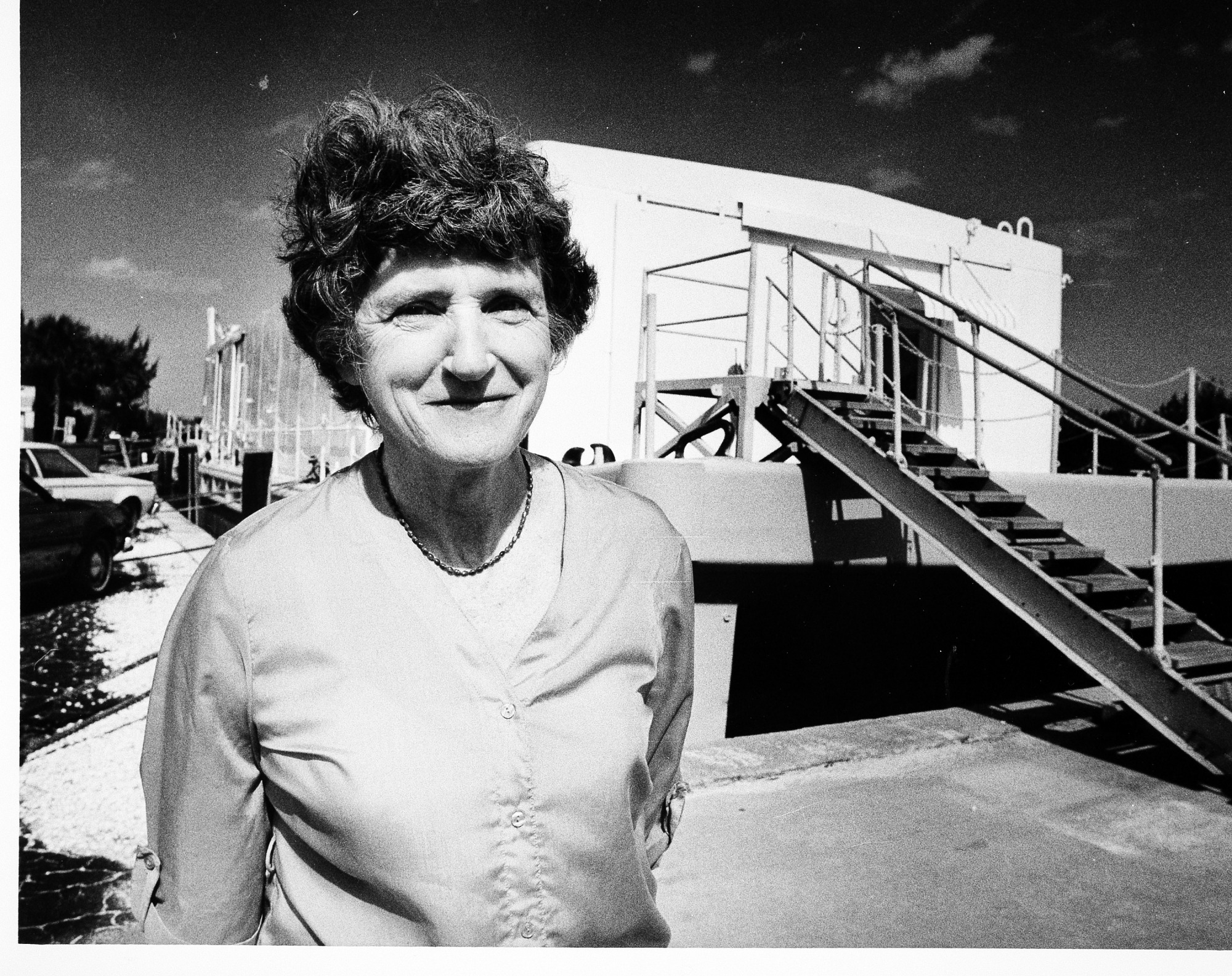 Mary Rice at Florida Marine Station's Lab