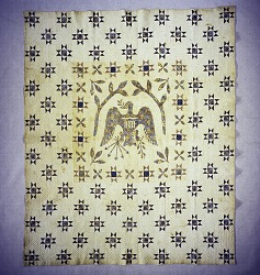 """1800 - 1825 Dove-Cator Families """"American Eagle"""" Quilt"""