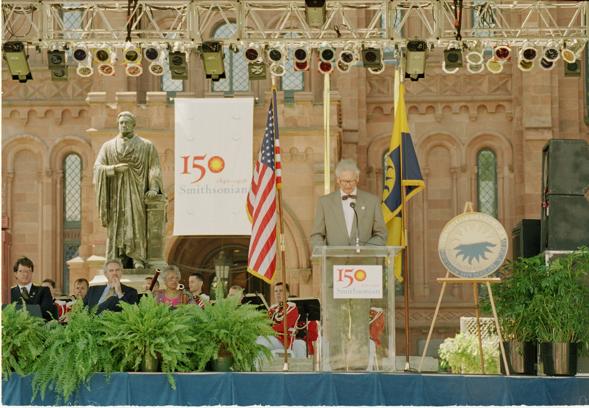 Heyman at Opening Ceremonies of 150th Birthday Party