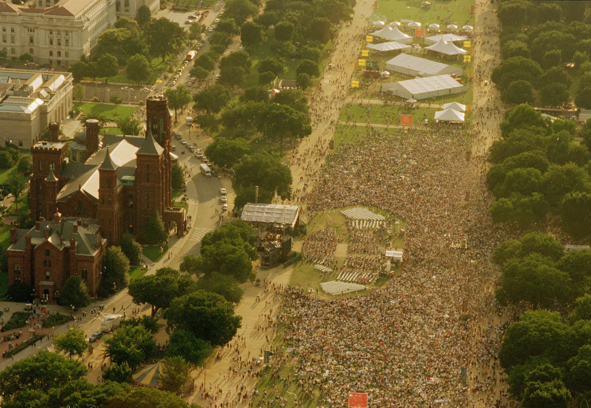 Aerial Photograph of the National Mall on August 10, 1996