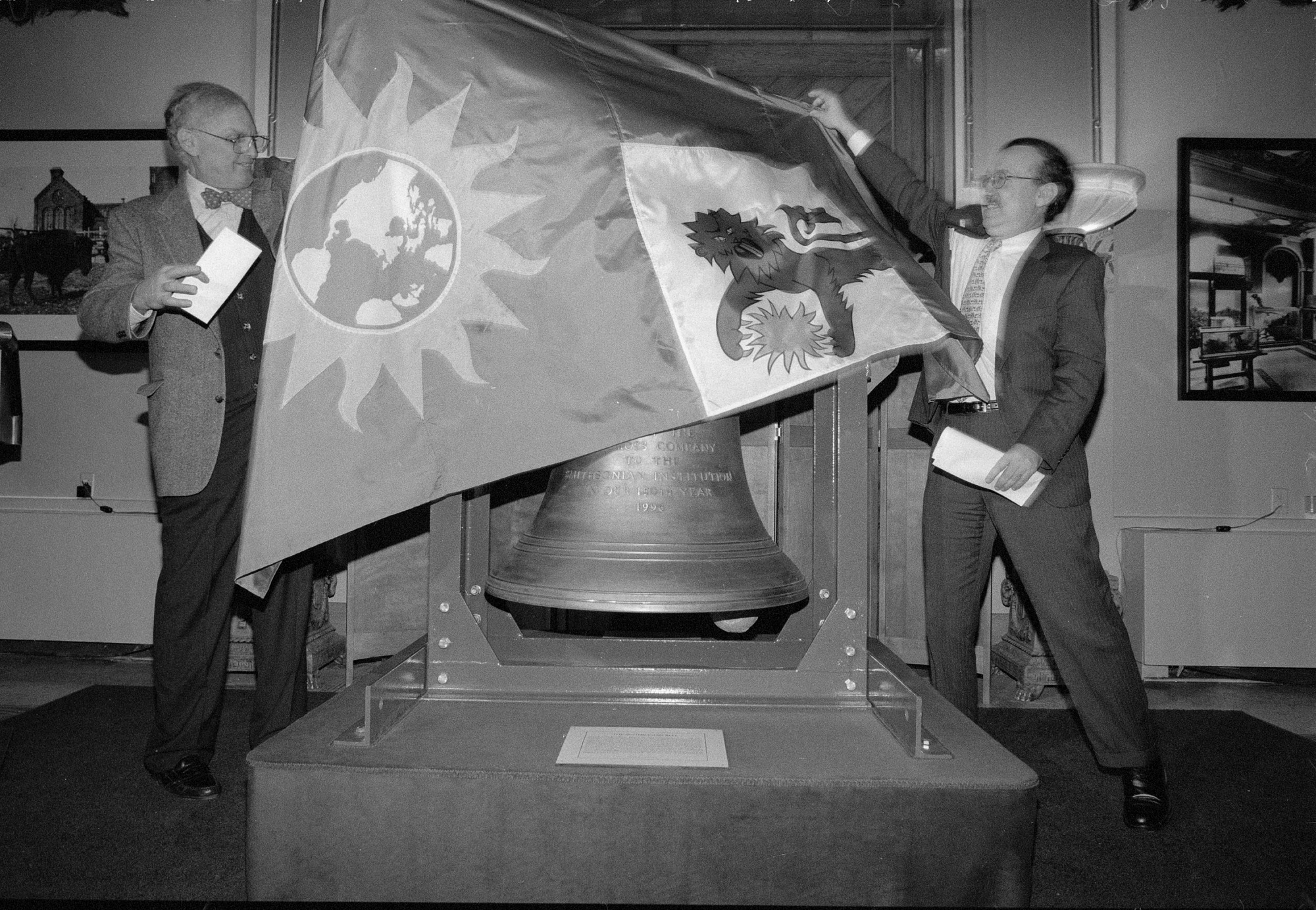Unveiling New Bell for Flag Tower, by Unknown, 1996, Smithsonian Archives - History Div, 96-28-4A.