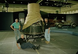 """Freedom7"" Mercury Spacecraft Installed at LA Convention Center"