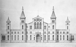 Proposed United States National Museum by Adolf Cluss and Frederick Daniel
