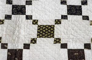 """images for 1790 - 1810 Copp Family's """"Nine-patch"""" Pieced Quilt-thumbnail 3"""