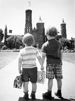 Children Approaching the Smithsonian Building
