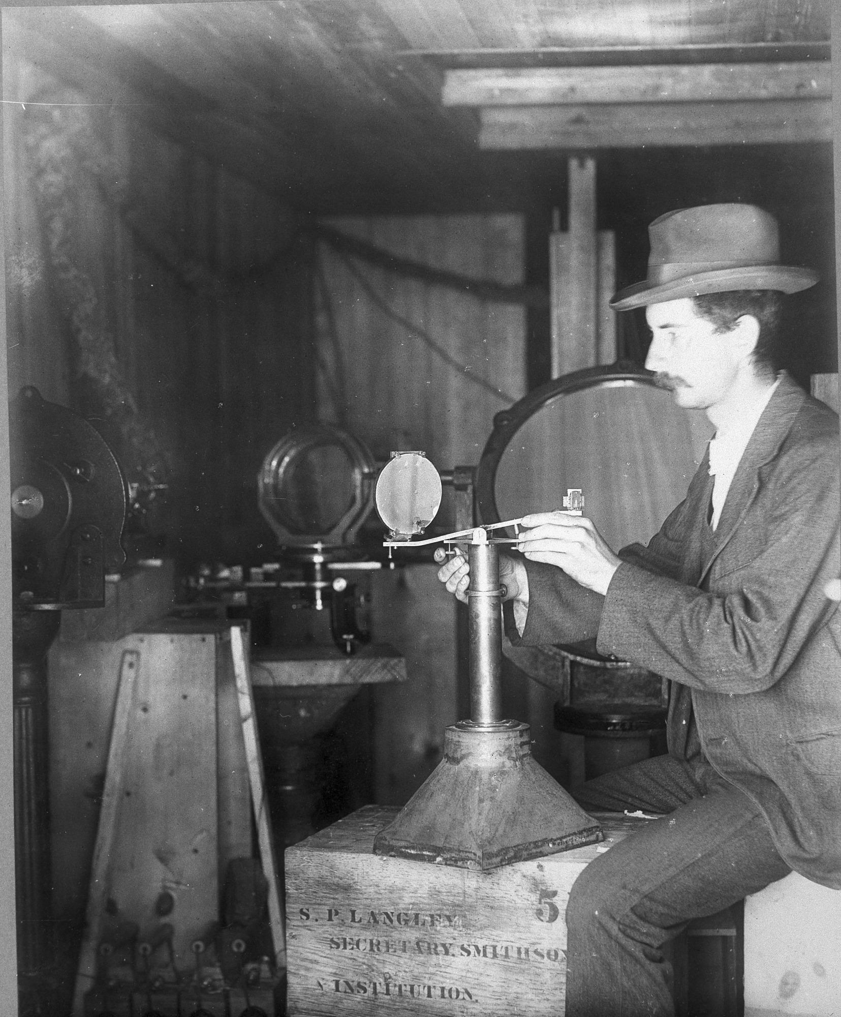 Secretary Charles G. Abbot with Bolometric Apparatus