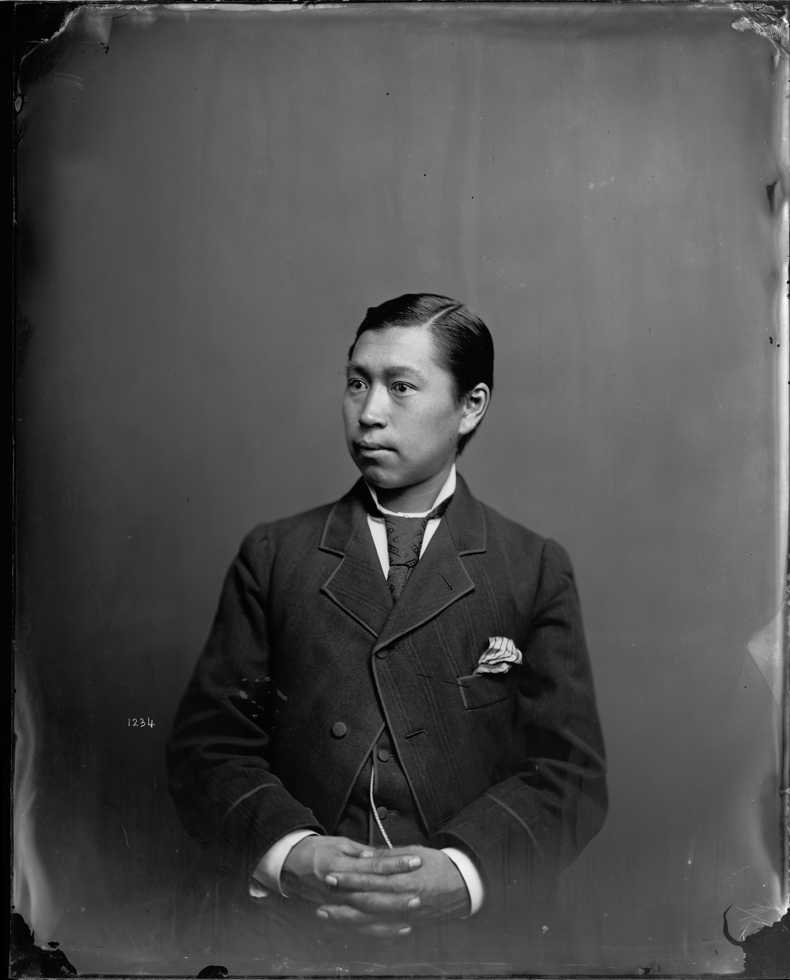 Portrait of Unidentified Man, 1880, Smithsonian Institution Archives, SIA Acc. 11-006 [MAH-1234].