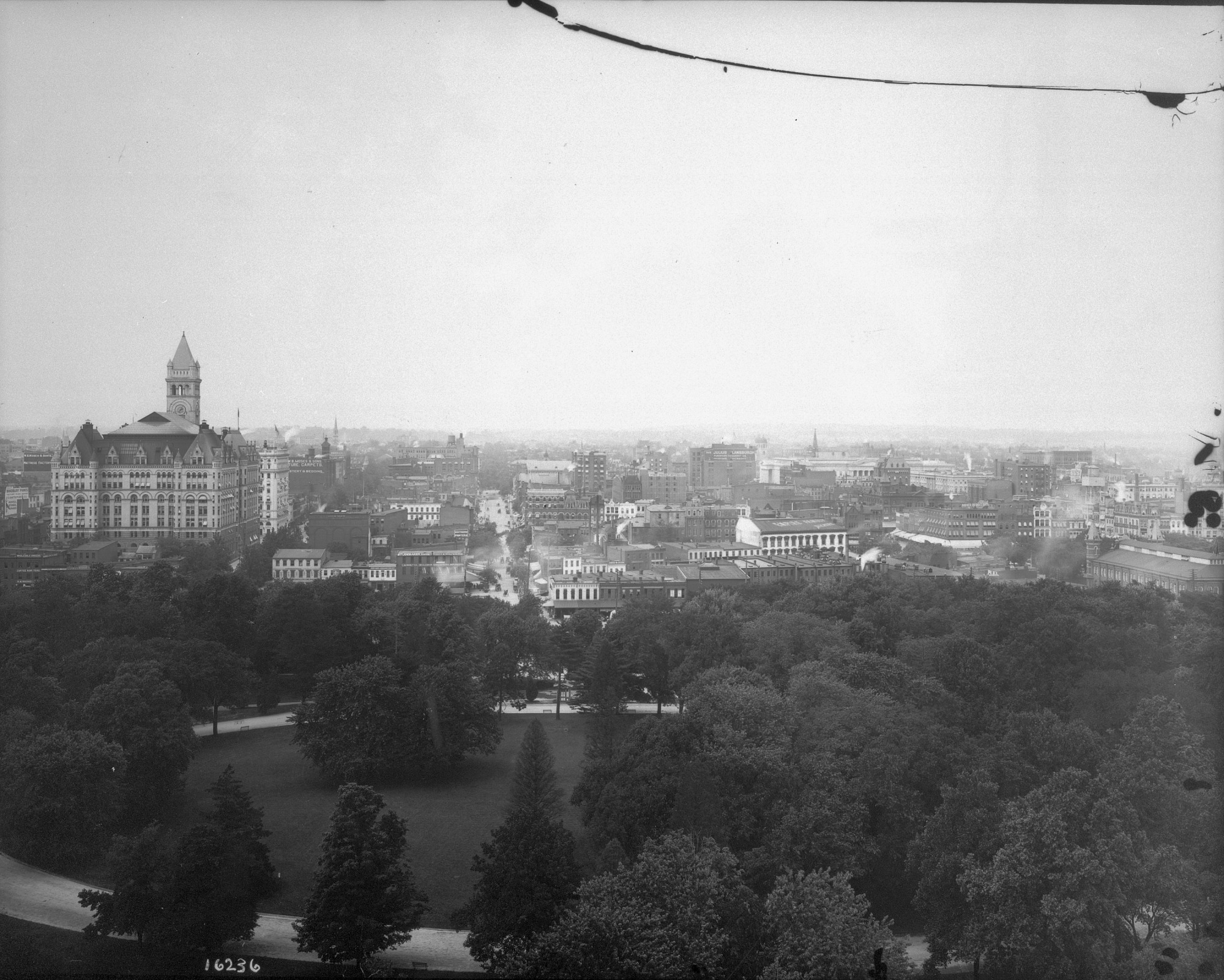 View of Washington, D.C., from the Mall