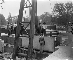 Laying First Stone at United States National Museum Building, 1905