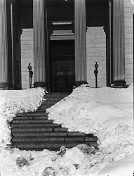 Natural History Building After Snow Storm