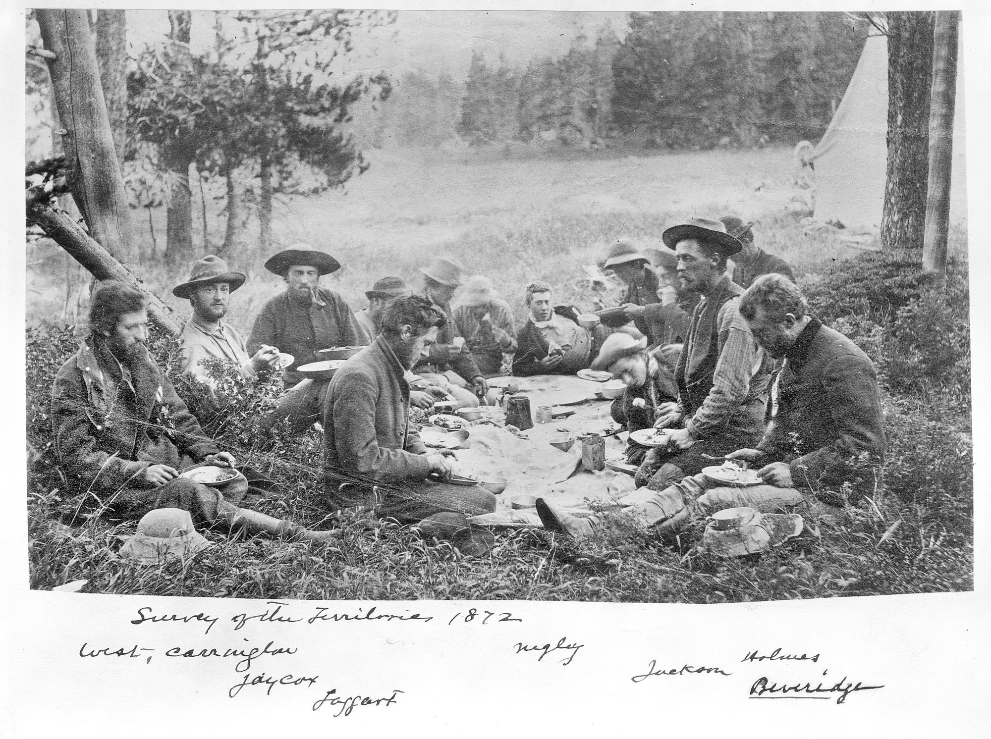 Mealtime, Hayden Survey of the Territories, 1872