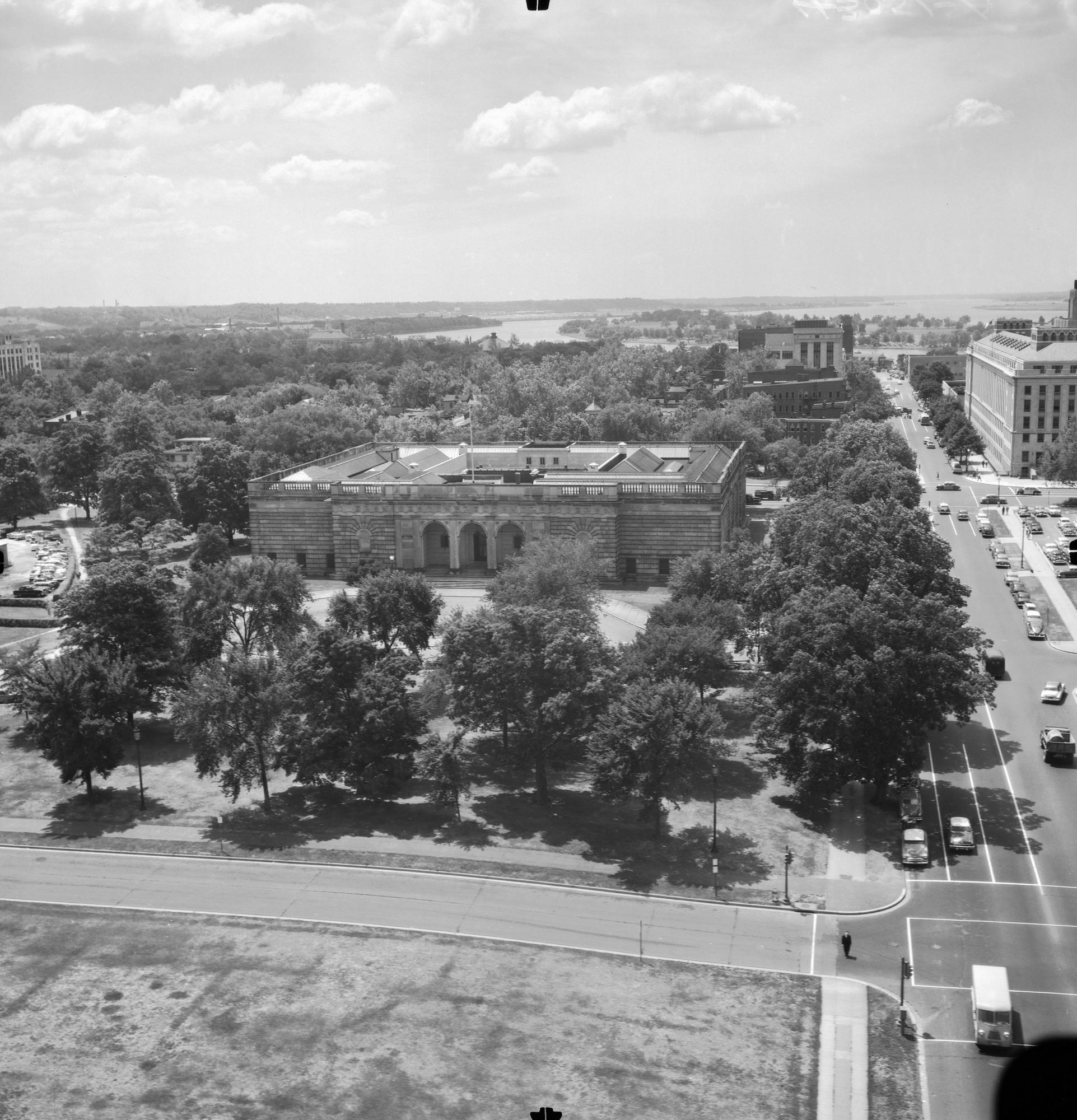 Aerial View of Freer Gallery of Art