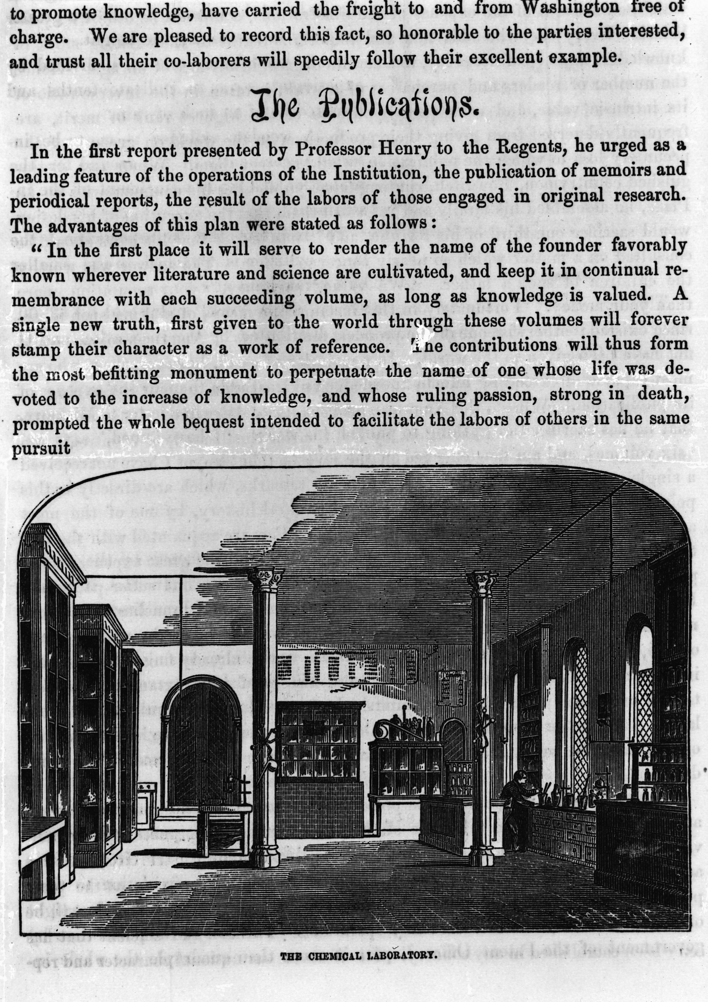 Chemical Laboratory, 1856