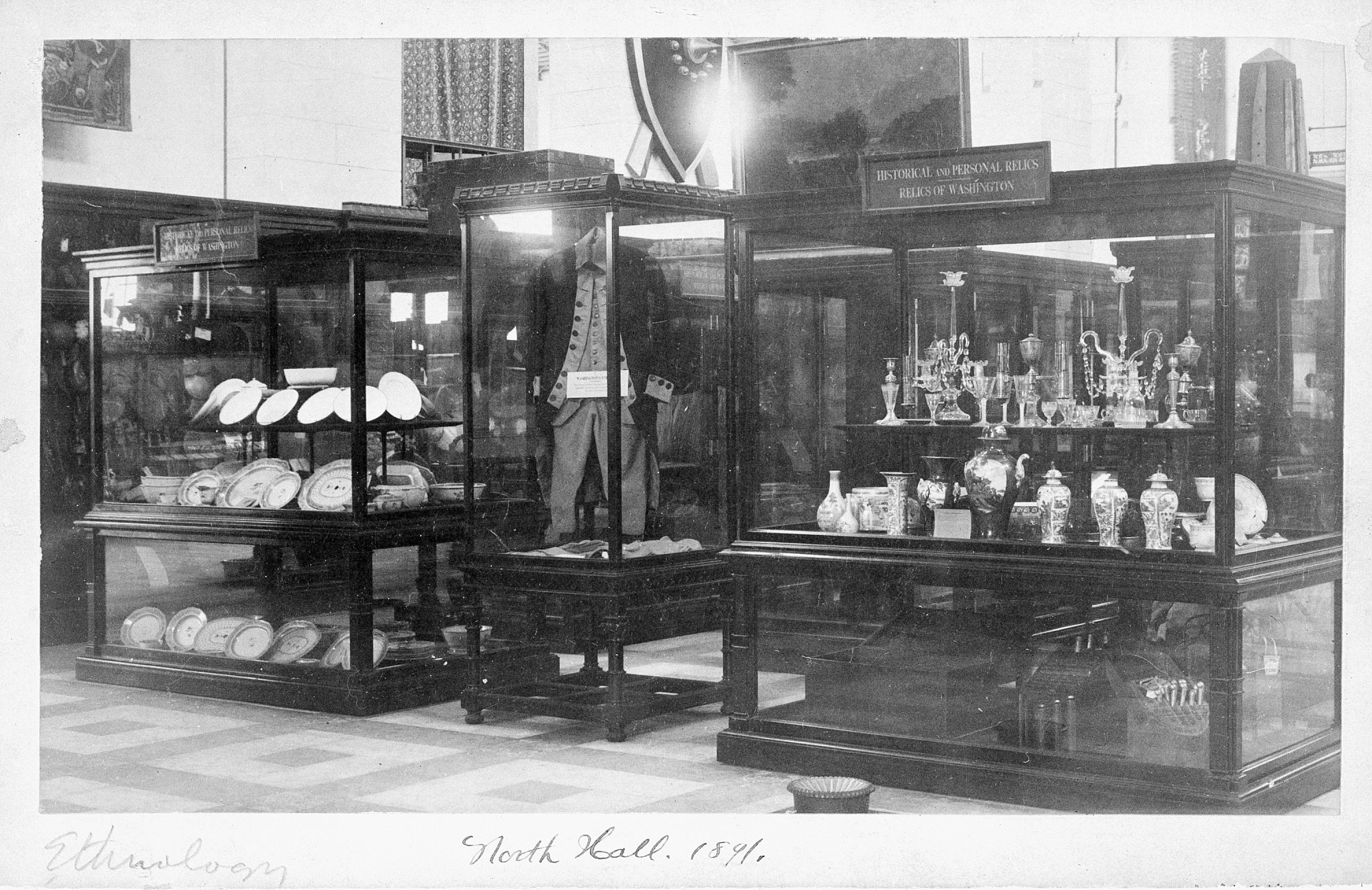 George Washington Relics on Display, 1891