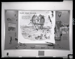 """Plains Indian Religion"" Exhibit Case"