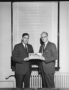 Image of Presentation of Mounted Fish to T. Dale Stewart