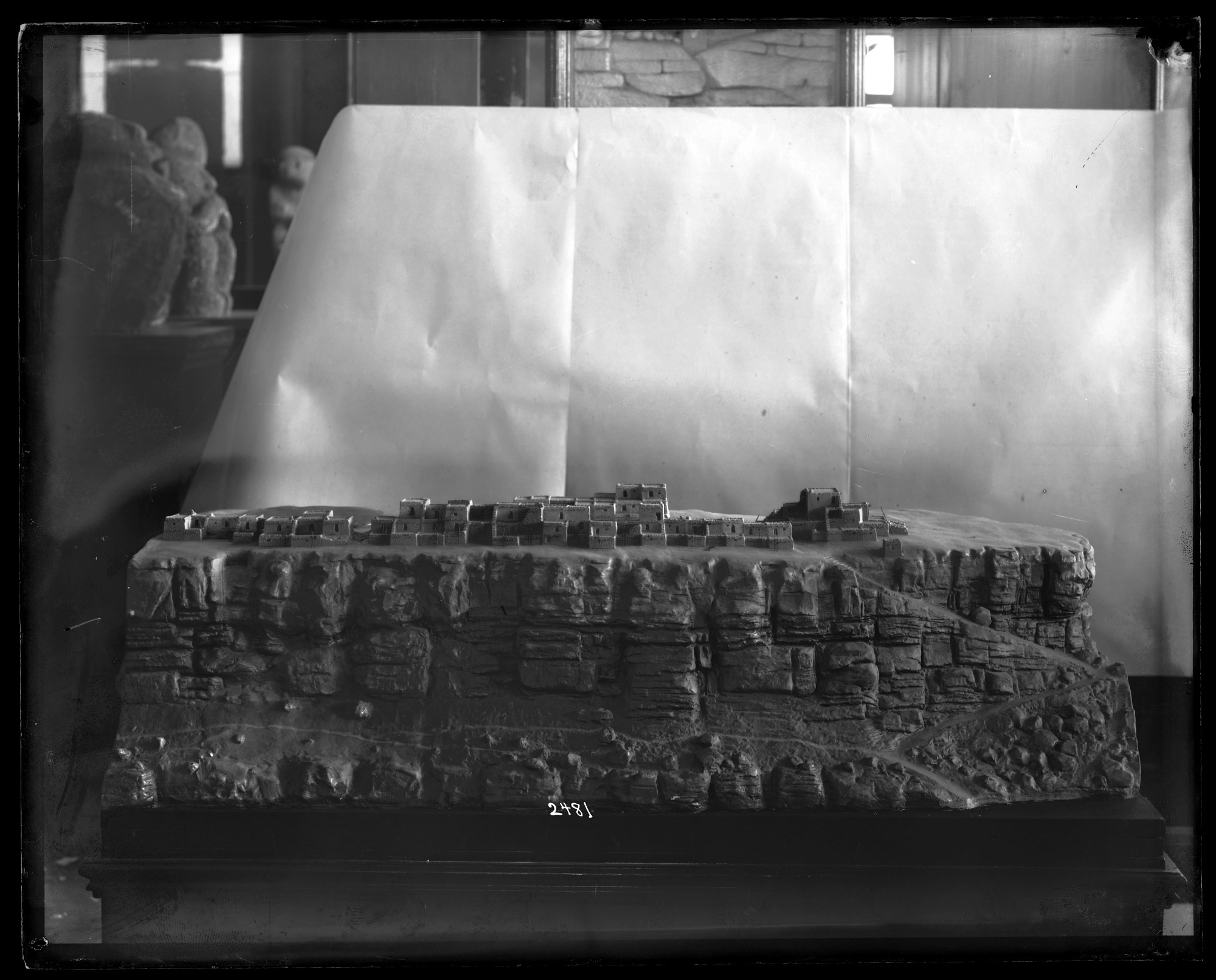 Model of Ancient Ruins in the Southwestern United States