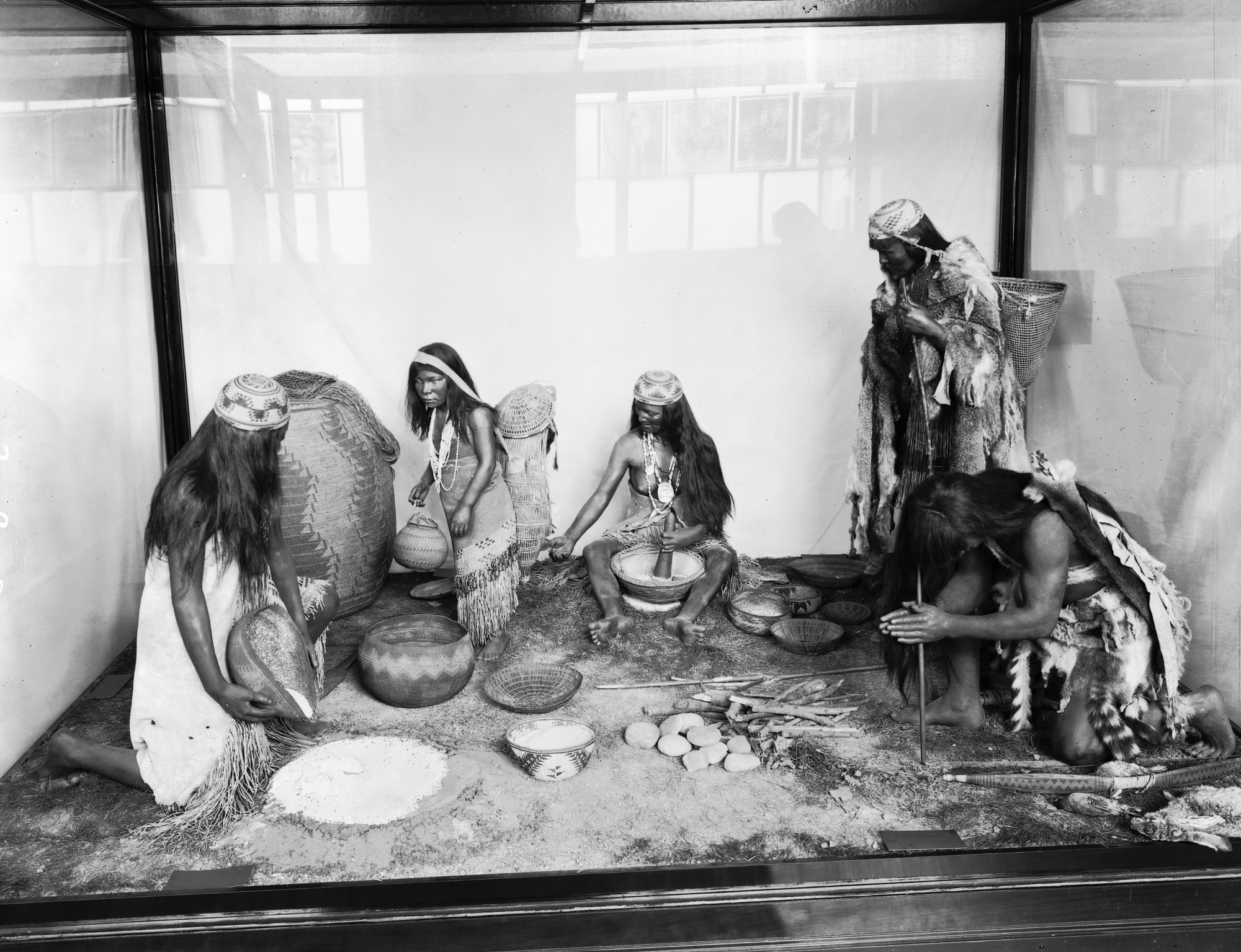 Hupa Indians Anthropology Exhibit, U.S. National Museum