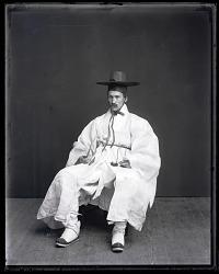 Walter G. Hough Models Traditional Korean Costume